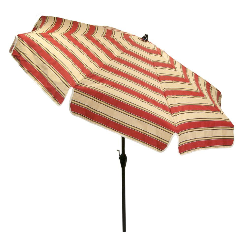 Aluminum Patio Garden Umbrella In Chadlark Stripe