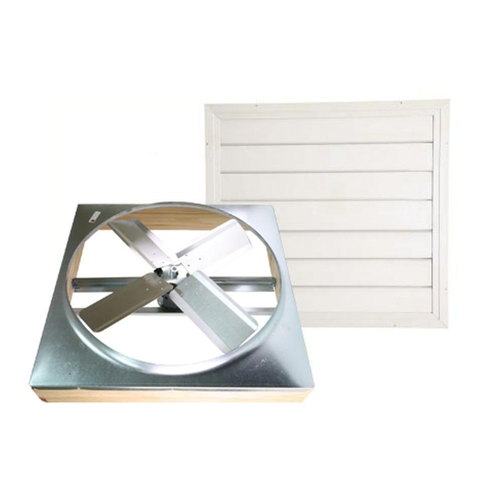 Cool Attic 24 in. Direct Drive Whole House Fan with Shutter