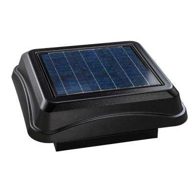 28 Watt Solar-Powered Black Curb Mount Attic Vent