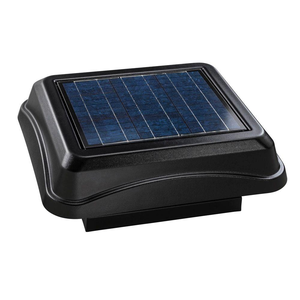 Broan 28 Watt Solar-Powered Black Curb Mount Attic Vent