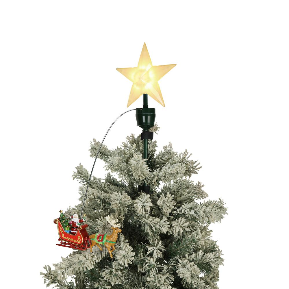 Christmas Tree Topper.Mr Christmas 20 In Tree Topper Santa And Sleigh