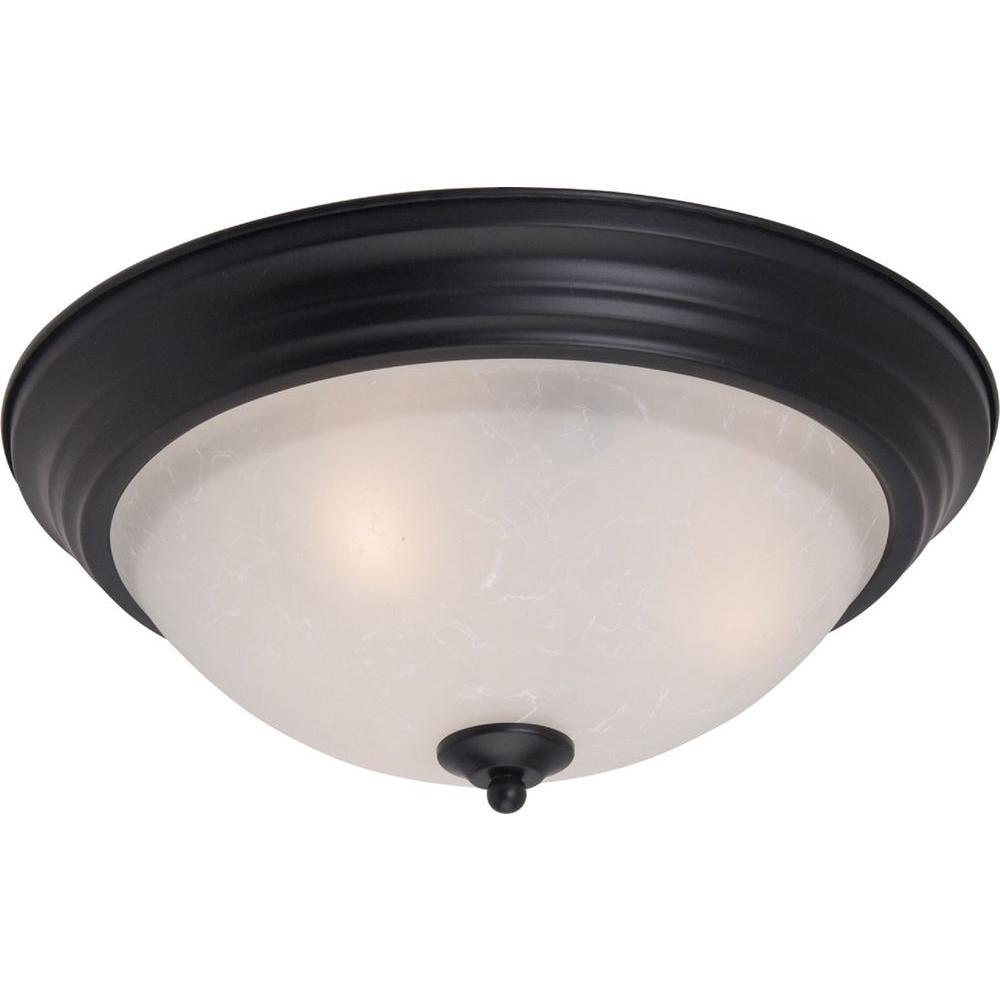 Essentials 1-Light Black Flushmount