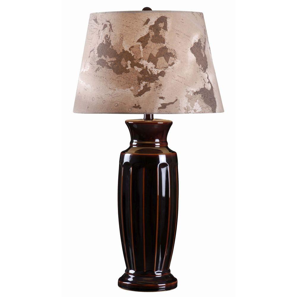 Marielle 30 in. H Bronze Ceramic Table Lamp