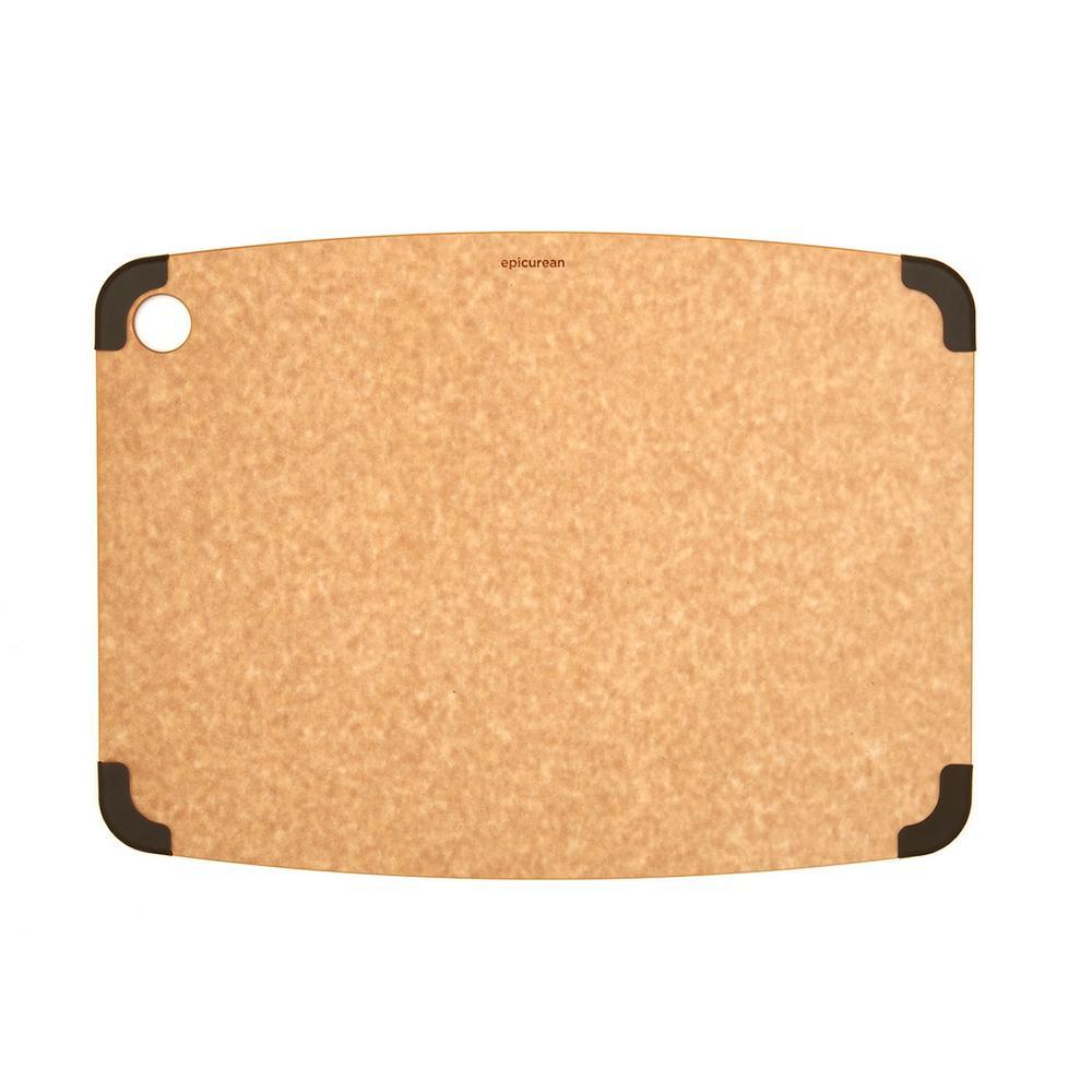 Non-Slip 18 in. x 13 in. Rectangular Wood Fiber Composite Cutting Surface