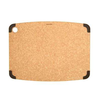 Non-Slip 18 in. x 13 in. Rectangular Wood Fiber Composite Cutting Surface