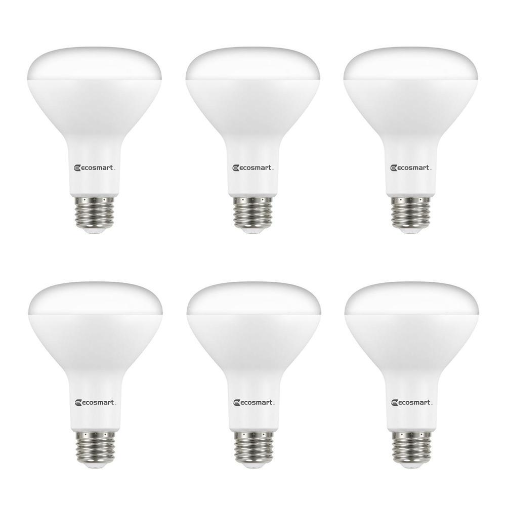 65-Watt Equivalent BR30 Dimmable LED Light Bulb, Soft White (6-Pack)