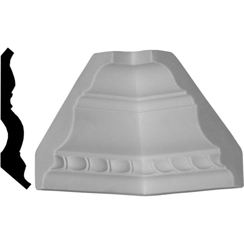 3 in. x 3 in. x 3 in. Polyurethane Crown Inside Corner Moulding