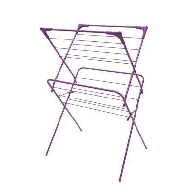 24.5 in. x 38 in. Purple Enamel Coated Steel Garment Rack