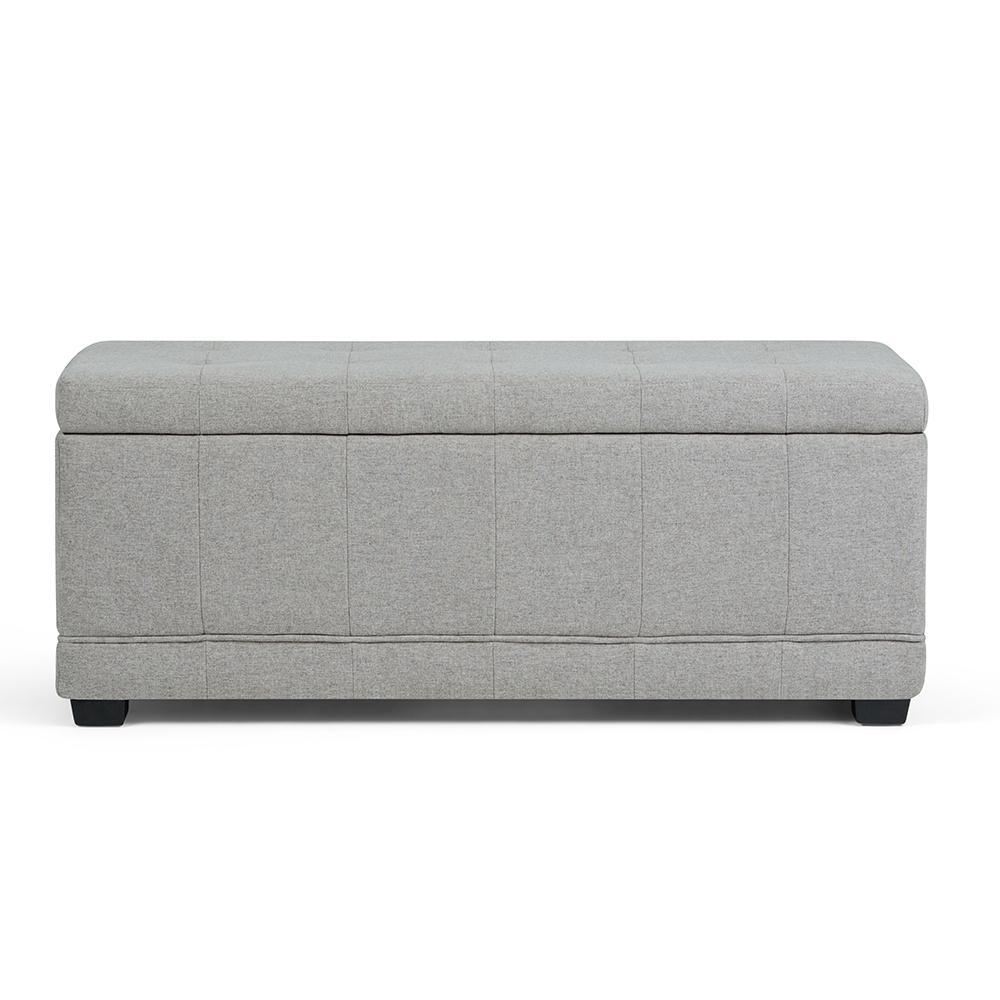 storage ottoman grey