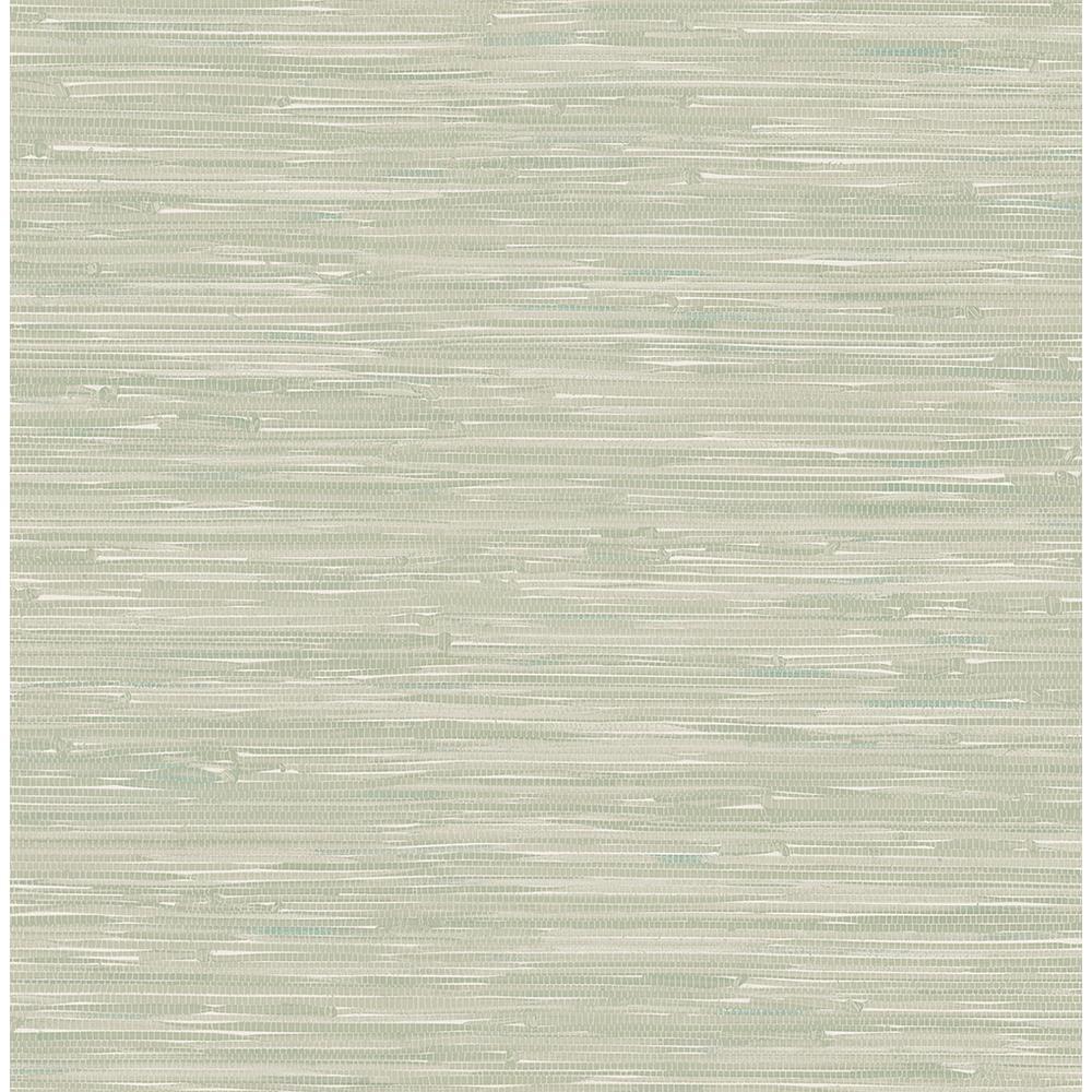 Modern Wallpaper Sage Green Metallic Faux Grasscloth: A-Street Natalie Sage Faux Grasscloth Wallpaper-2657-22266