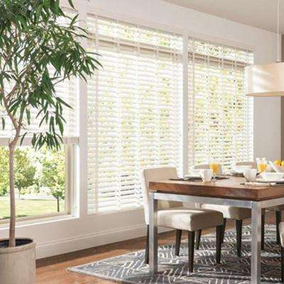 2-1/2 in. Double Beveled Composite Faux Wood Blind