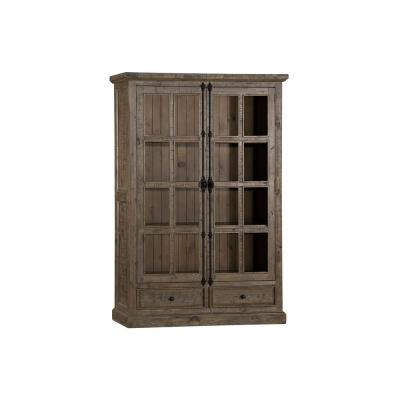Tuscan Retreat Double Door Cabinet in Aged Gray