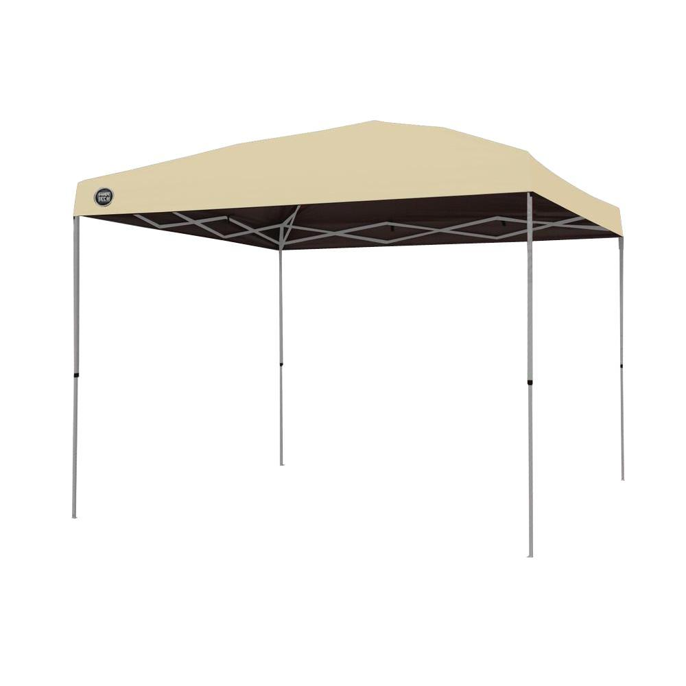 Shade Tech ST100 10 ft. x 10 ft. Instant Patio Canopy in Khaki-157467 - The Home Depot  sc 1 st  The Home Depot & Shade Tech ST100 10 ft. x 10 ft. Instant Patio Canopy in Khaki ...