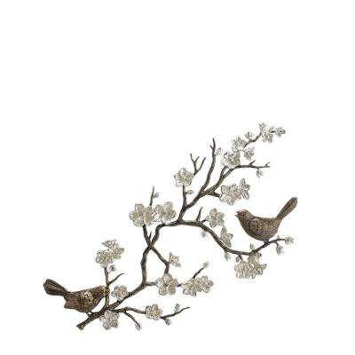 Cherry Blossom 18 in. H x 37 in. W Wall Sculpture