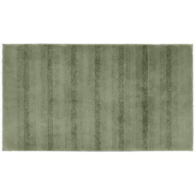 Essence Deep Fern 30 in. x 50 in. Washable Bathroom Accent Rug