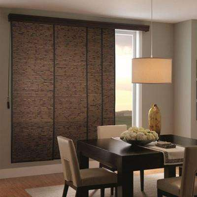 cheap blinds home depot white woven wood sliding panel up track blinds the home depot