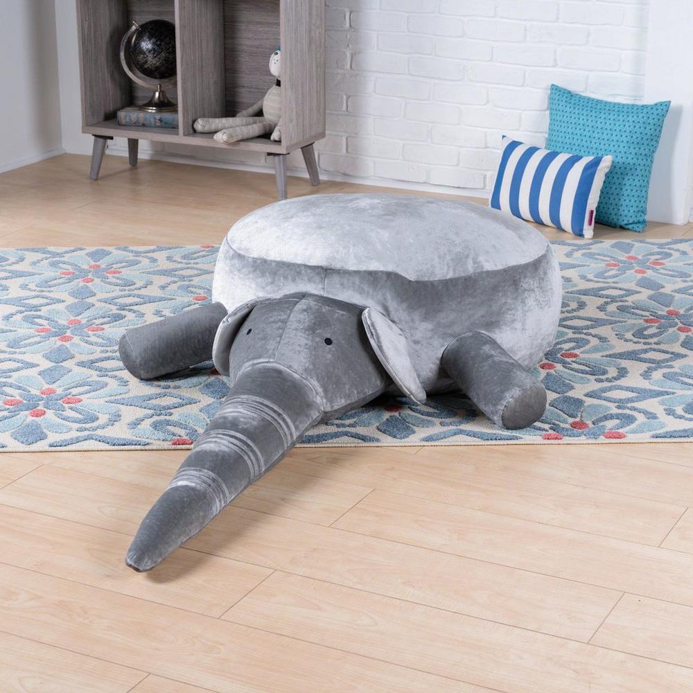 Terrific Noble House Ace Horizon Gray Velvet Elephant Bean Bag 53109 Ibusinesslaw Wood Chair Design Ideas Ibusinesslaworg