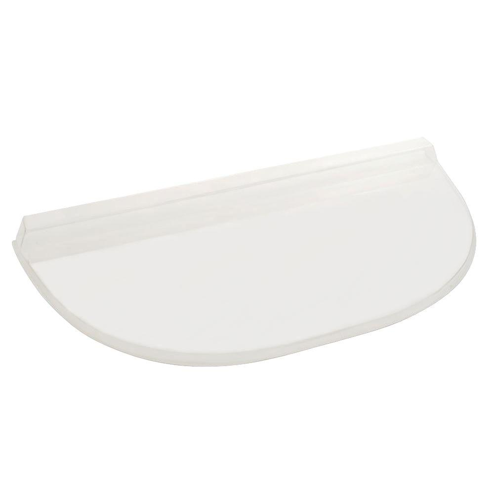 40 in. x 21 in. Polycarbonate Heavy-Arch Window Well Cover