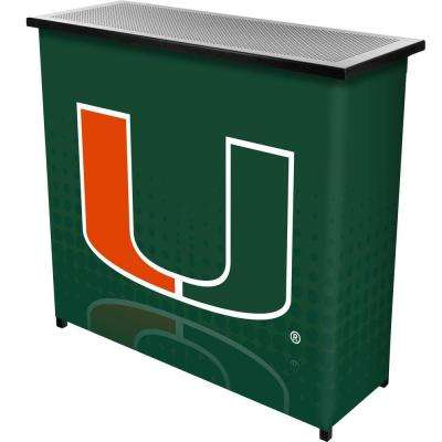 University of Miami Reflection 2-Shelf Green Bar with Case