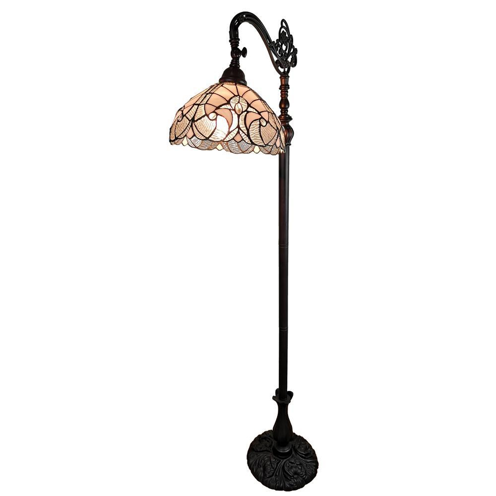 62 in. Tiffany Style Reading Floor Lamp