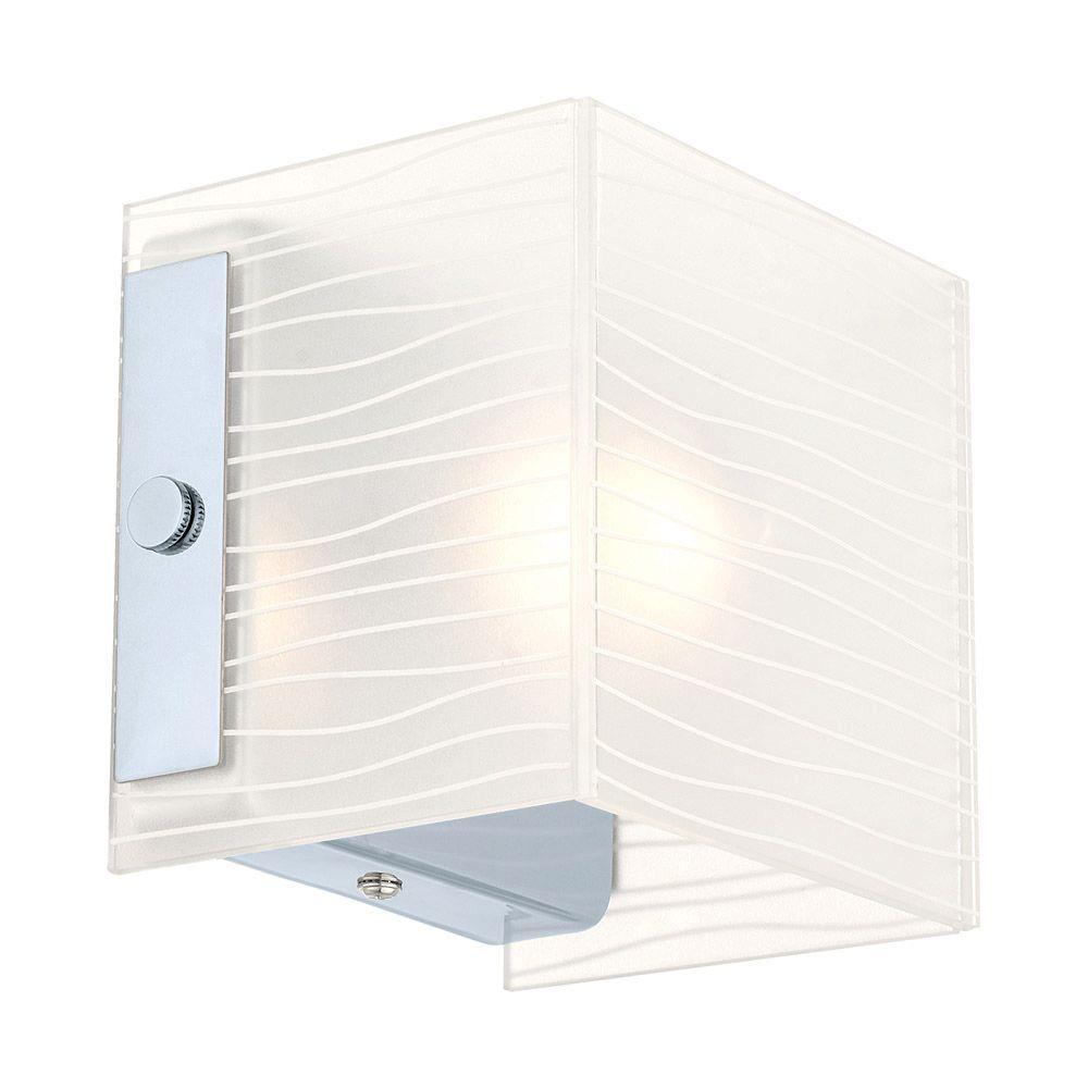 Alea 1-1-Light Chrome Wall Vanity Light