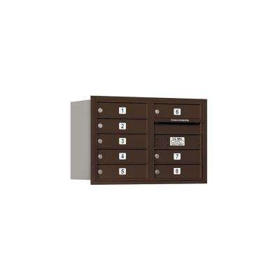 3700 Series 20 in. 5 Door High Unit Bronze Private Rear Loading 4C Horizontal Mailbox with 8 MB1 Doors