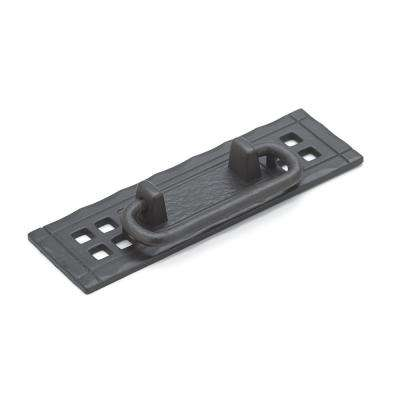 Traditional 4-1/4 in. (108 mm) Matte Black Iron Cabinet Bail pull