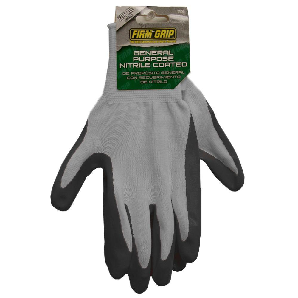 Firm Grip Nitrile Coated Polyester Work Gloves