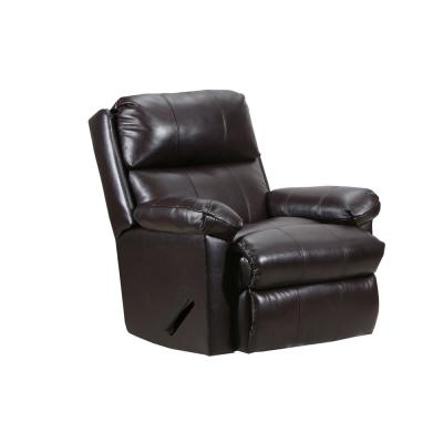 Soft Touch Deep Chocolate Brown Leather Bark Rocker Recliner