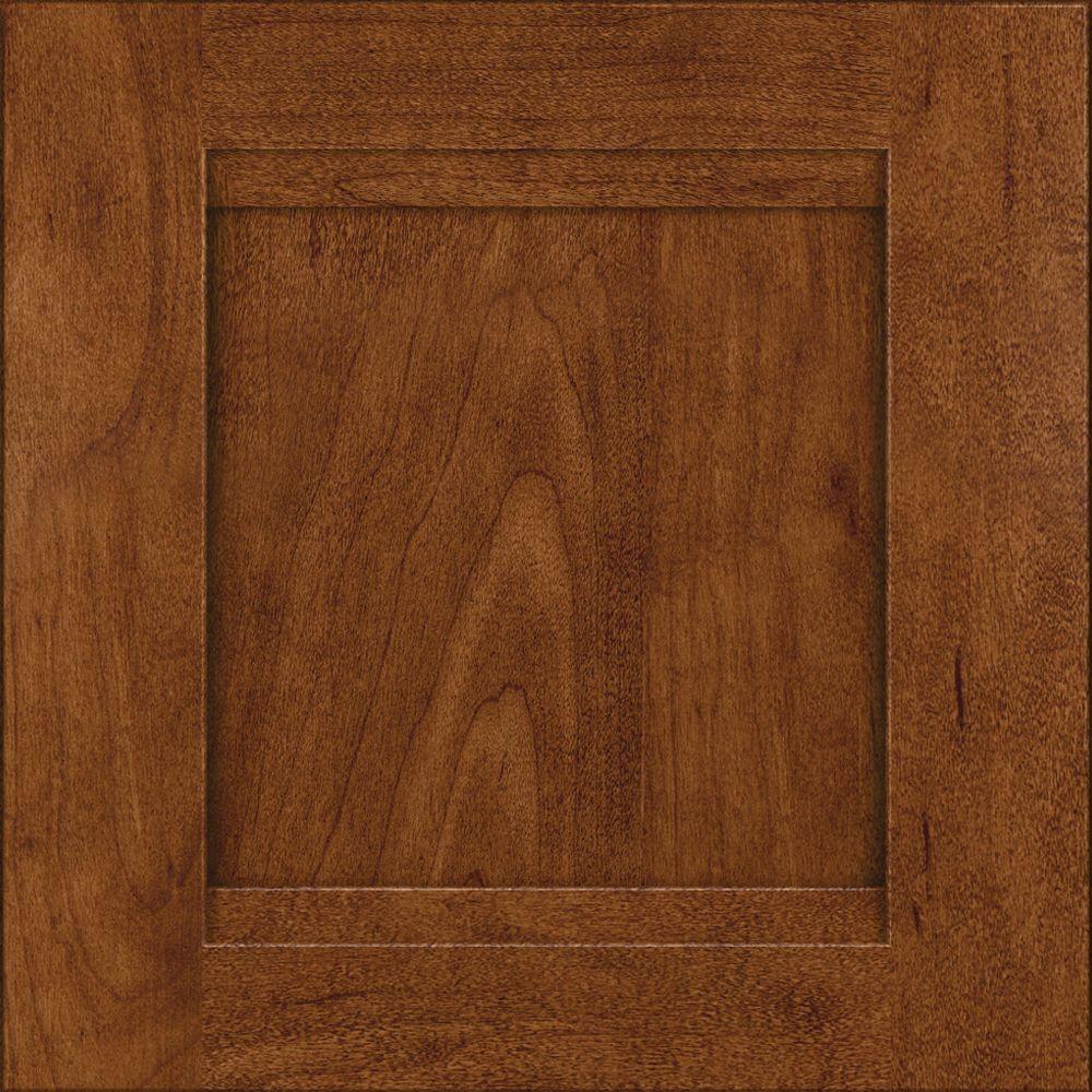KraftMaid 15x15 in. Cabinet Door Sample in Sonora Maple in Cognac
