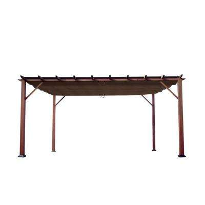 Paragon 11 Ft X 16 Aluminum Pergola With The Look Of Chilean Wood Cocoa Canopy