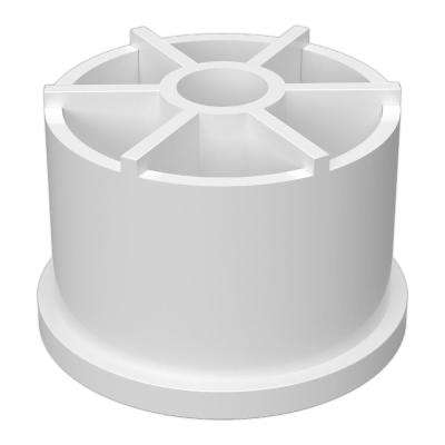 1-1/4 in. Furniture Grade PVC Caster Fitting Insert in White (4-Pack)