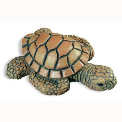Caribe 2-3/16 in. Green/Brown Turtle Cabinet Knob