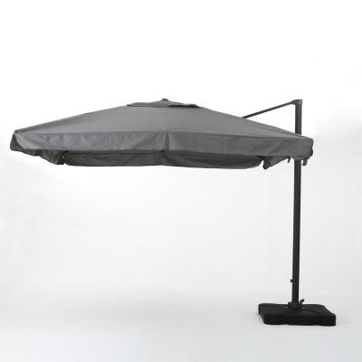 8.67 ft. Metal Cantilever Patio Umbrella in Gray