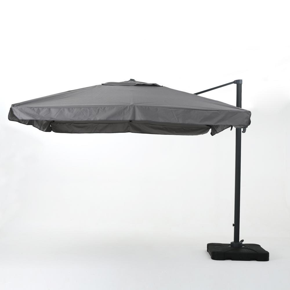 Metal Cantilever Patio Umbrella In Gray