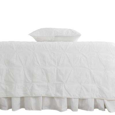 Trinity White Full and Queen Quilt Set