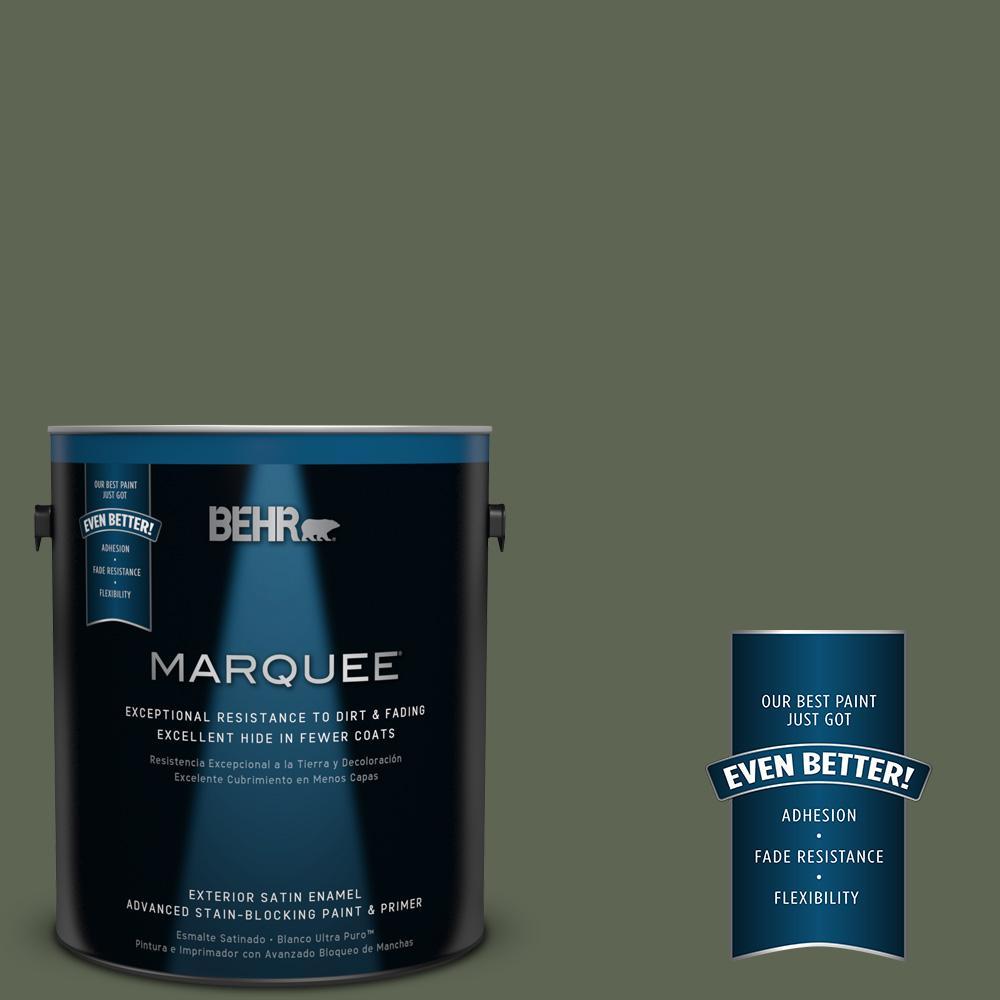 BEHR MARQUEE 1-gal. #N390-7 Cypress Vine Satin Enamel Exterior Paint