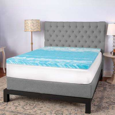 3 in. Gel Swirl Queen Memory Foam Topper