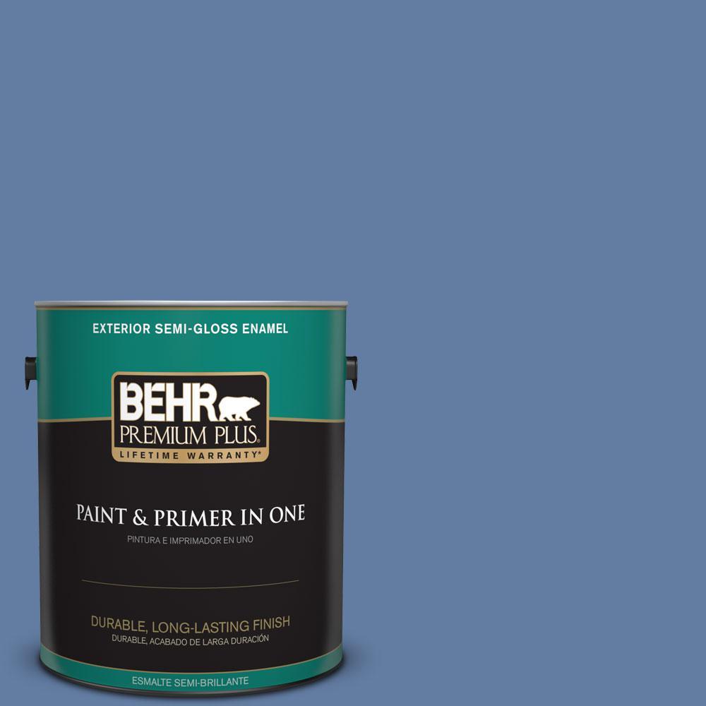1-gal. #600D-6 Blueberry Patch Semi-Gloss Enamel Exterior Paint