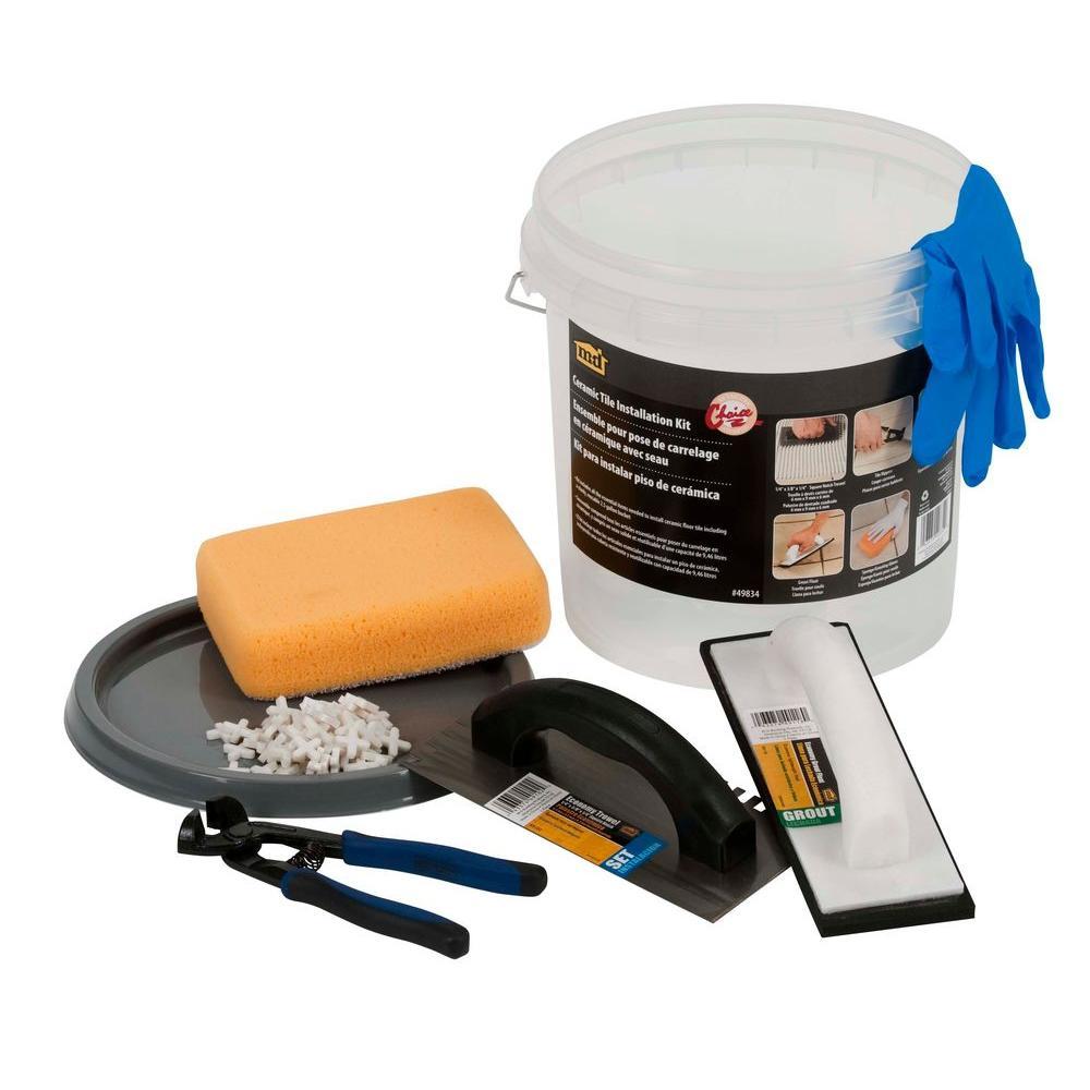Ceramic Floor Tile Installation Bucket Kit
