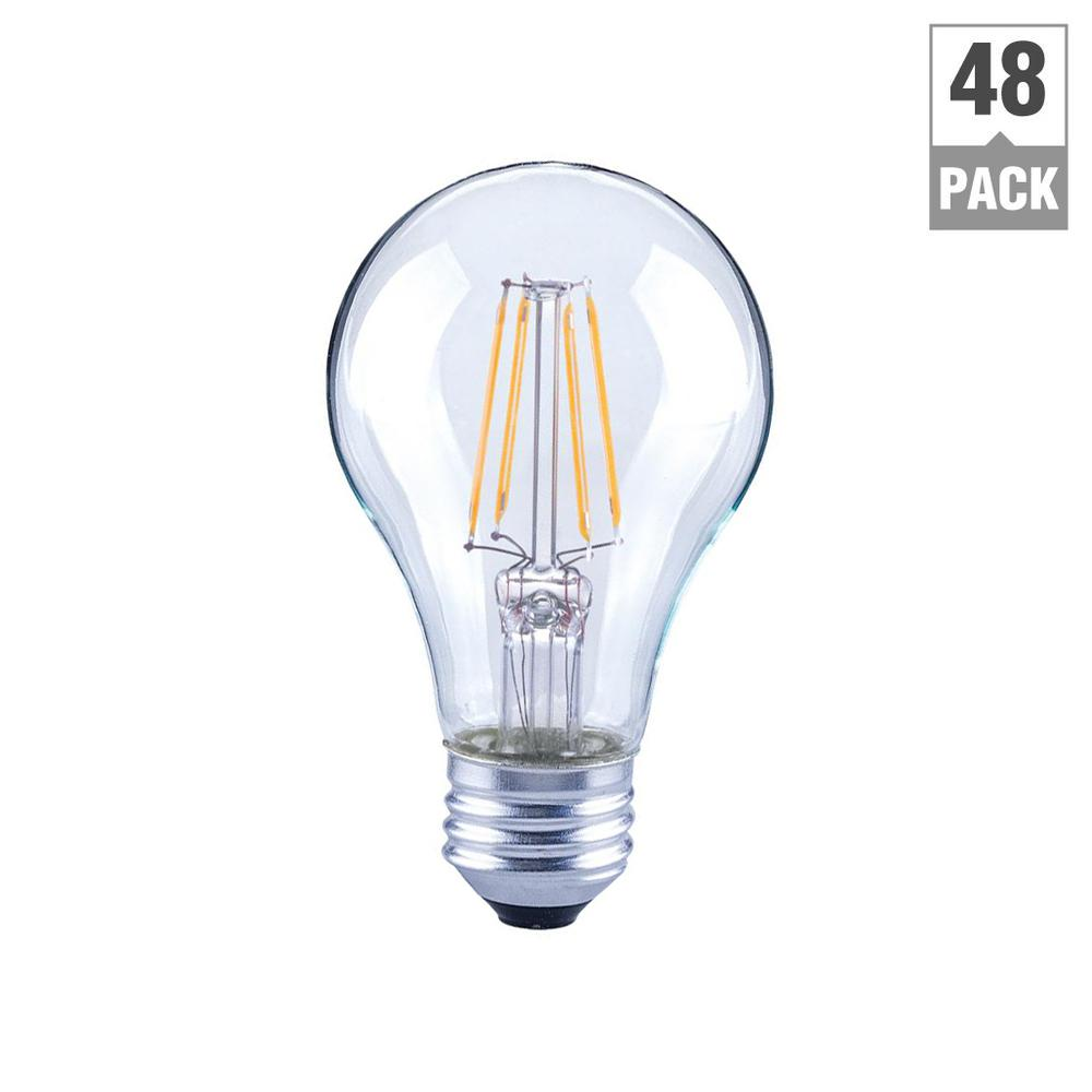 Ecosmart 40w Equivalent Soft White A19 Dimmable Filament: EcoSmart 40-Watt Equivalent A19 Dimmable Clear Filament