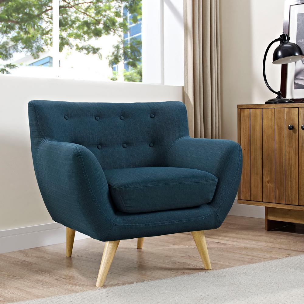MODWAY Remark Azure Upholstered Armchair EEI-1631-AZU