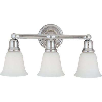 Bel Air 3-Light Polished Chrome Bath Vanity Light