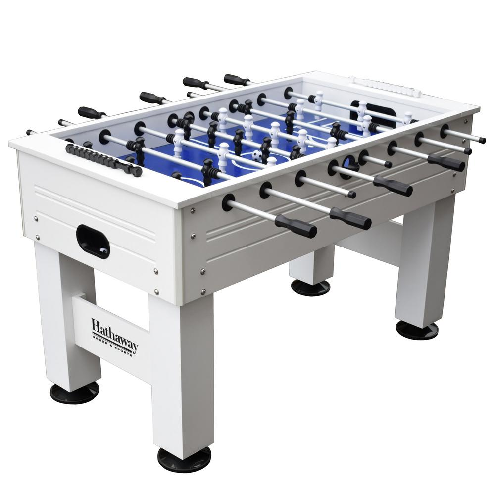 Highlander 55 in. Outdoor Foosball Table with Waterproof Surface Anti-Rust Rods