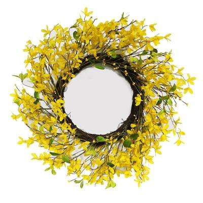 22 in. Wreath with Yellow Jasmine