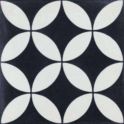 Circulos B Evening 7-7/8 in. x 7-7/8 in. Cement Handmade Floor and Wall Tile