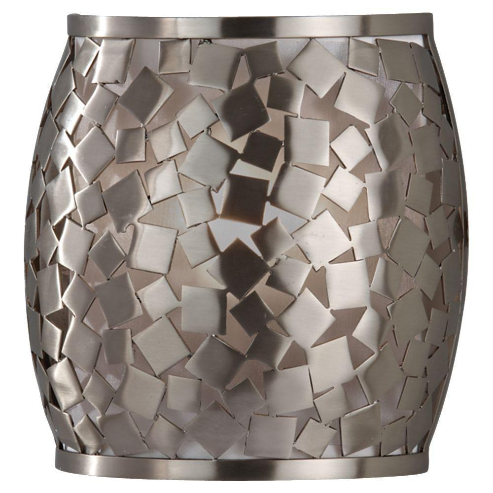 Feiss Zara 1-Light Brushed Steel Wall Sconce