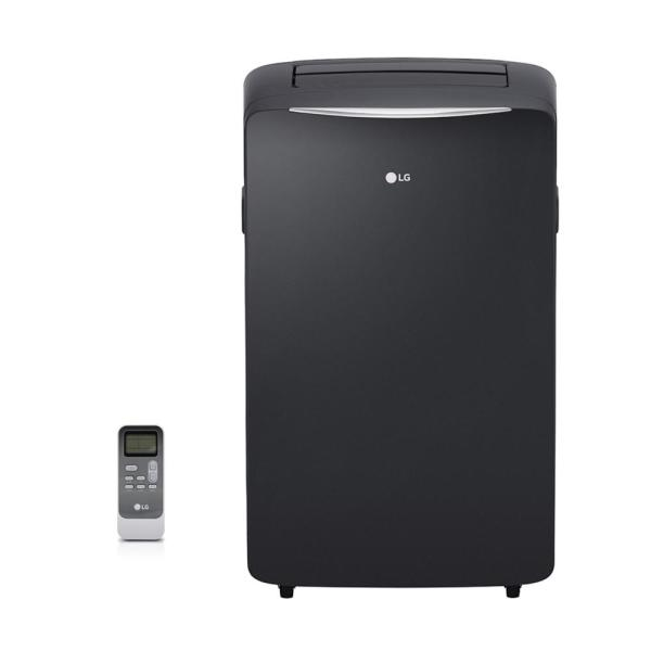 LG Electronics 14,000 BTU (8,000 BTU,DOE) Portable Air Conditioner, 115-Volt w/ Heat, Dehumidifier Function and LCD Remote in Silver