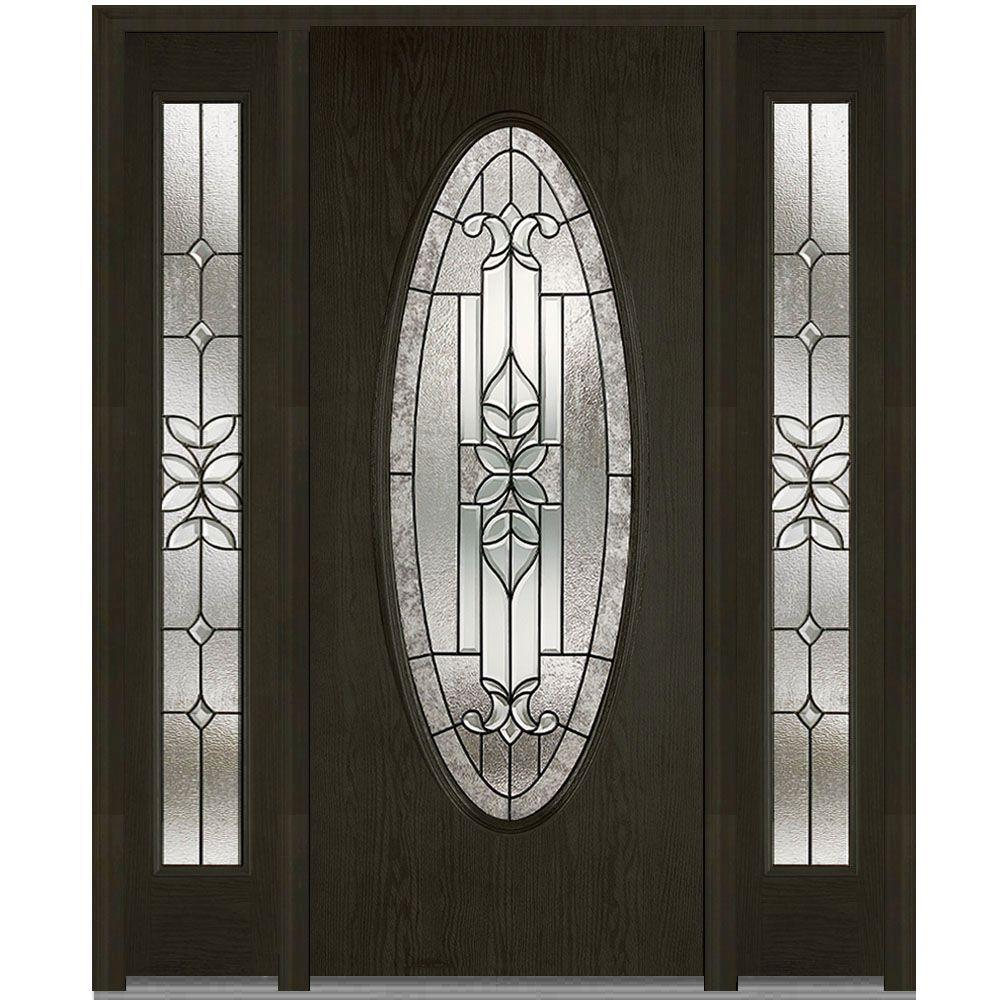 64.5 in. x 81.75 in. Cadence Decorative Glass Full Oval Finished