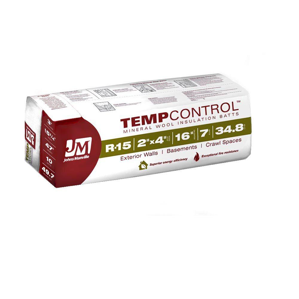 Johns Manville R-15 TempControl Mineral Wool Insulation 15 in. x 47 in.